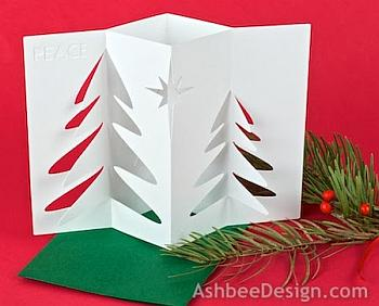 Accordian Folded Tree Card - Ashbee Design