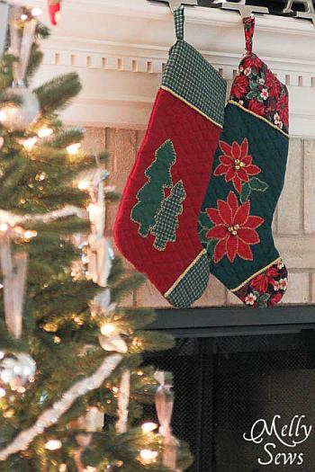 Appliqued Stockings - Melly Sews