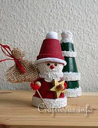 Basic Christmas Craft Ideas - Clay Pot Crafts - Clay Pot Santa Claus