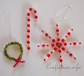 Beaded Christmas Ornaments - Craftideas