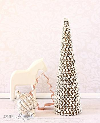 Beaded Christmas Tree - A Spoonful of Sugar
