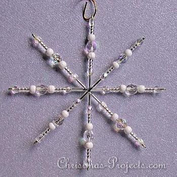 Beaded Snowfake Ornament - Christmas Projects