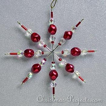Beaded Star Christmas Ornament - Christmas Projects