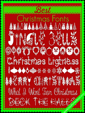 Best Christmas Fonts - Sewlicious Home Decor