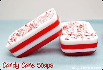 Candy Cane Soaps - Sew Can Do