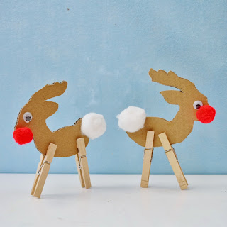 Cardboard Reindeer Craft - Snugglebug University