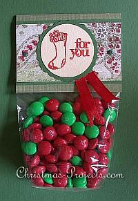 Christmas Bag Topper - Red and Green 200