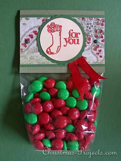 Christmas Bag Topper - Red and Green