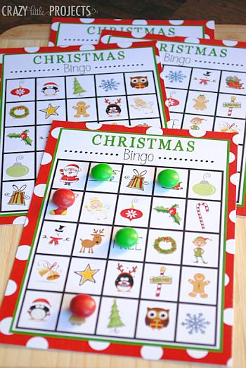 Christmas Bingo Printable - Crazy Little Projects