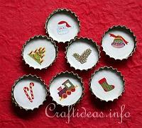 Christmas Bottle Cap Decorations or Magnets_0074
