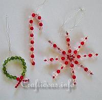 Christmas Craft - Beaded Ornaments Set