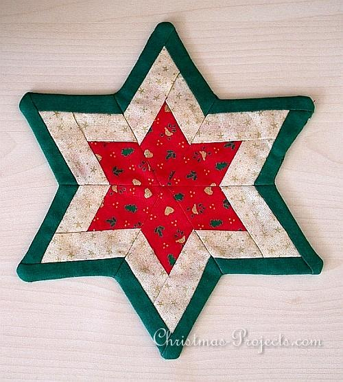 Christmas Craft Ideas Images on Christmas Craft   Patchwork Star 330 Jpg