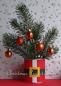 Christmas Craft - Recycling Craft using Cans - Santa Coat Plant or Flower Pot