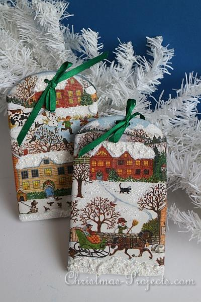 Paper Napkin Decoupage Christmas Craft Sleigh Ride