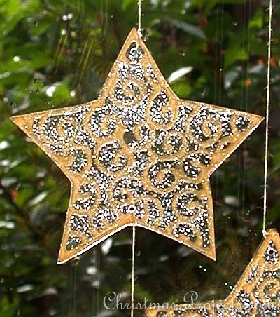 Christmas Craft - Window Cling Mobile - Moon and Stars - Star
