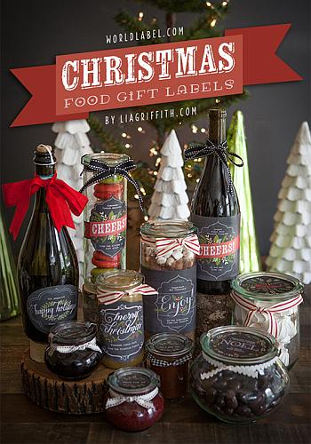 Christmas Food Gift Labels - Lia Griffith