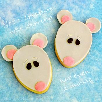 Christmas Mouse Cookies - Hungry Happenings
