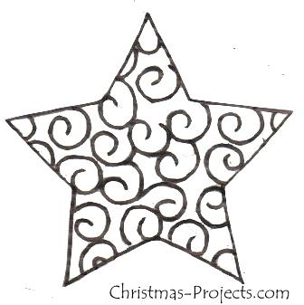 Christmas Craft Pattern Ornate Star Template