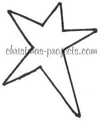Christmas Projects - Country Star Template
