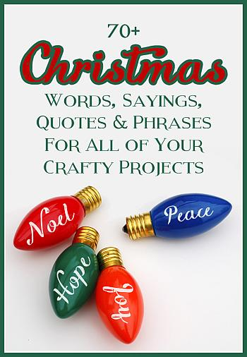 Christmas Sayings for Crafts - The Craft Patch Blog