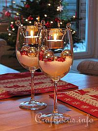 Christmas Table Decoration -Tealight Candle Glasses 200