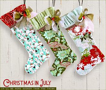 Christmas in July Stockings - Sew4Home