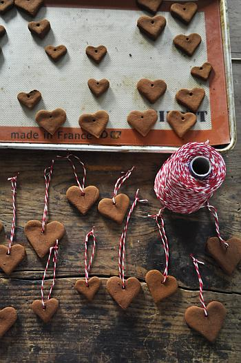 Cinnamon Applesauce Heart Ornaments - Katy Elliot