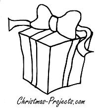 Coloring Book Page - Christmas Present