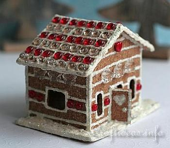 Cork Gingerbread House - Craftideas
