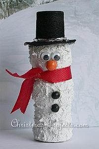 Cute Wine Cork Snowman
