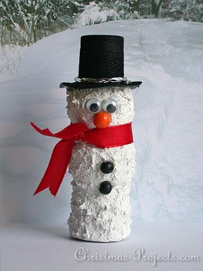 Cute Wine Cork Snowman 330