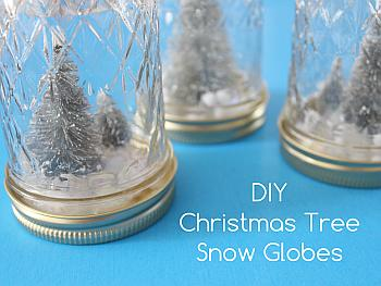 DIY Christmas Tree Snow Globes - White House Crafts