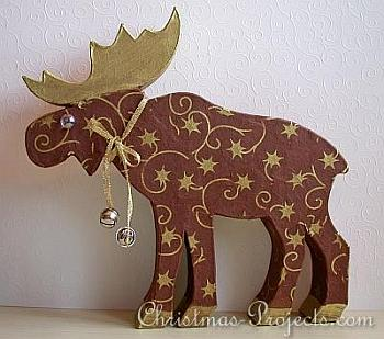 Decoupaged Paper Mache Moose - Christmas Projects