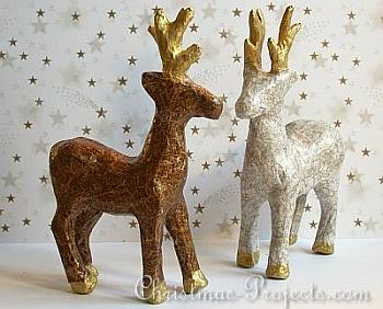 Decoupaged Paper Mache Reindeer - Christmas Projects