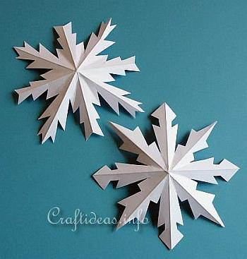 Dimensional Paper Snowflakes - Craftideas