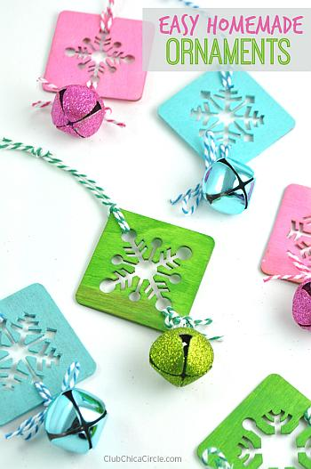 Easy Homemade Painted Snowflake Ornaments - Club Chica Circle