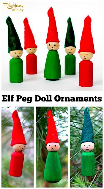 Elf Peg Doll Ornaments - Rhythms of Play