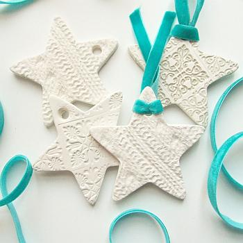 Embossed Clay Stars - Gathering Beauty