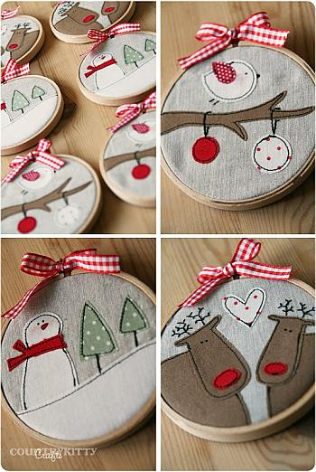 Embroidery Hoops Pictures - Country Kittyland
