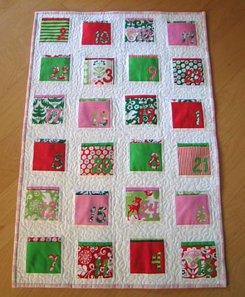 Fabric Advent Calendar Wall Hanging - SewMamaSew