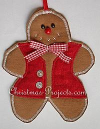 Fabric Gingerbread Man Ornament
