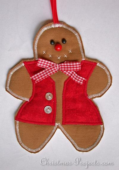 Fabric Gingerbread Man Ornament 330