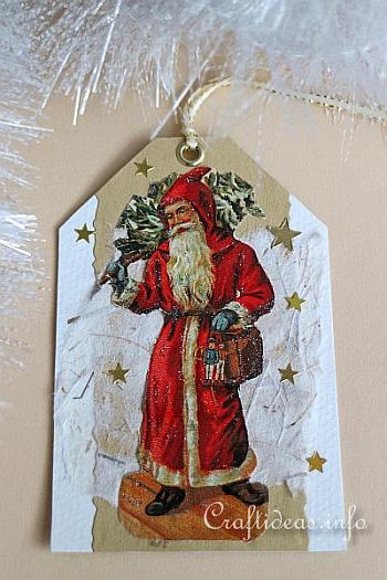 Father Christmas Gift Tag - Craftideas