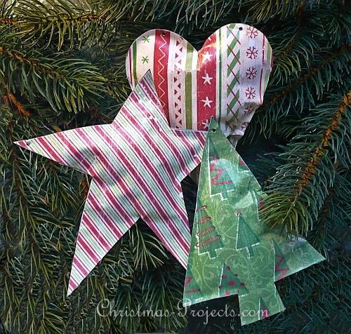 Faux Metal Christmas Ornaments 330