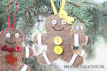 Felt Gingerbread Christmas Ornament - Do Small Things With Love