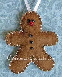 Felt Gingerbread Man Ornament 200