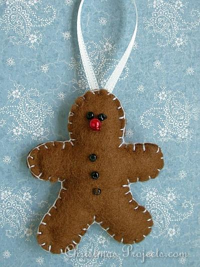 Felt Gingerbread Man Ornament