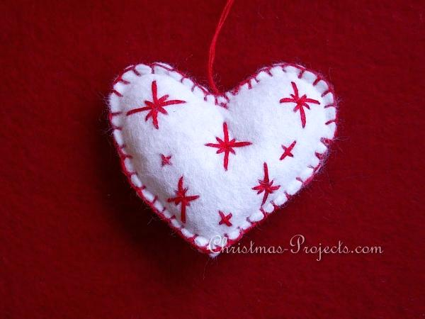Felt Scandinavian Heart Ornament