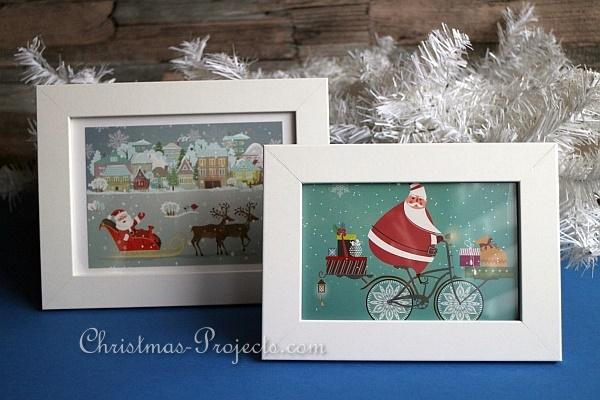 Framed Christmas Cards