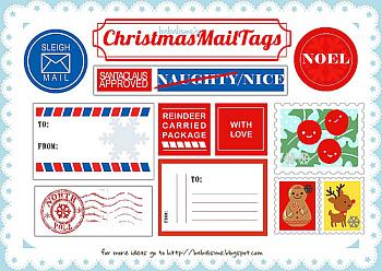Free Christmas Stamps to Print Out - Babalisme
